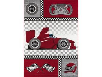 Covor Copii Formula 1 Rosu M196 Dreptunghi Polipropilena