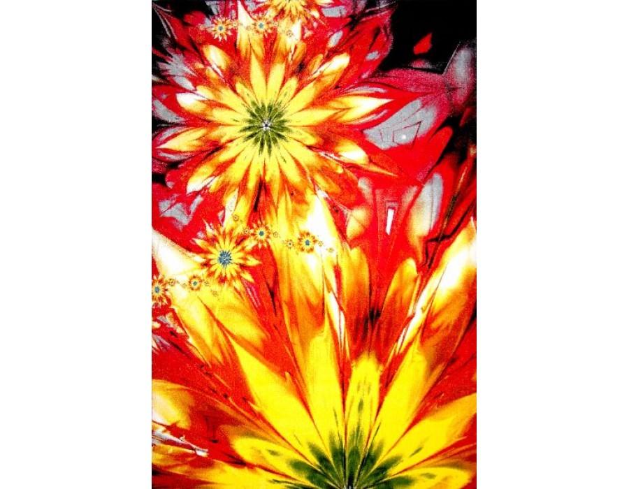 Covor Kolibri Galben/Rosu Dreptunghi - 11012/150